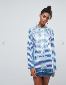 Asos QED London Clear Raincoat