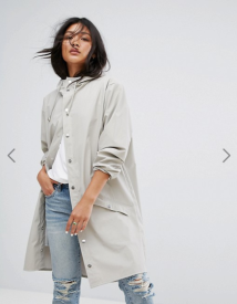Asos rains waterproof jacket grey